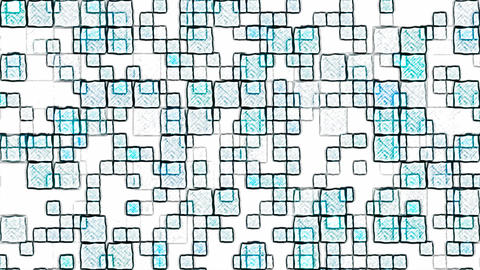 Colorful Squares Background Animation - Loop Blue Animation