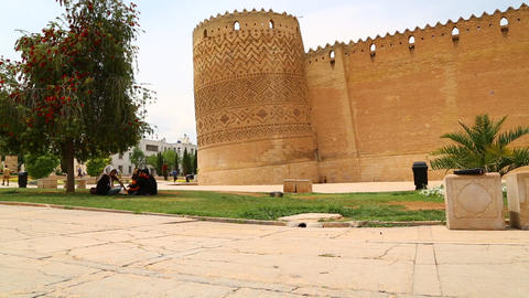 Iran shiraz old castle 526 Footage