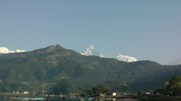 Zoom out from Machapuchare,Pokhara,Nepal Footage