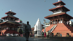 People walking on Durbar square,Kathmandu,Nepal Footage