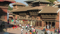 People walking on Durbar Square,view from above,Kathmandu,Nepal Footage