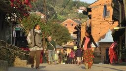Main street,Bandipur,Nepal Footage