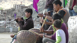 Musicians at the Polo match ,Leh,India Footage