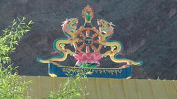 Hemis, detail of entrance gate,Hemis,India Footage