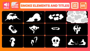 Smoke Elements And Titles After Effectsテンプレート