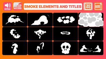 Smoke Elements And Titles モーショングラフィックステンプレート