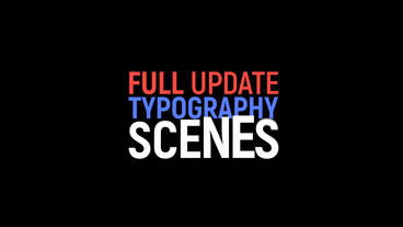 Kinetic Typography Motion Graphics Template