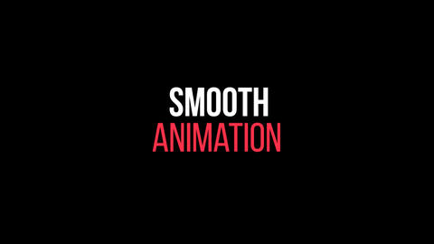 Stylish Kinetic Typography Motion Graphics Template