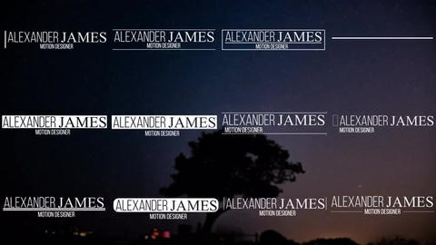 12 Lower Thirds Motion Graphics Template