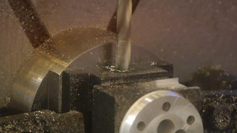 Process of metalworking. Precise work on the product. New electric tool Live Action