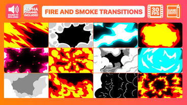 Fire And Smoke Transitions Motion Graphics Template