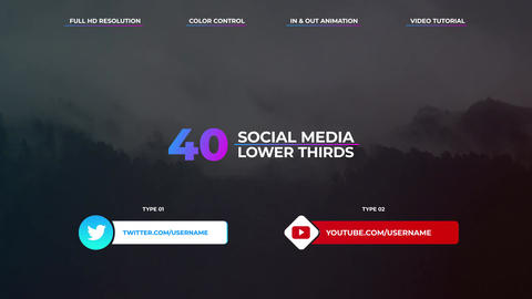 Social Media Lower Thirds Premiere Proテンプレート