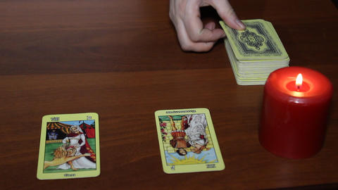 Prediction with the Help of Tarot Cards Footage