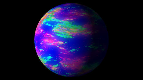 Fast Boiling Blue Colorful Planet Sun Globe Alpha 2 CG動画素材