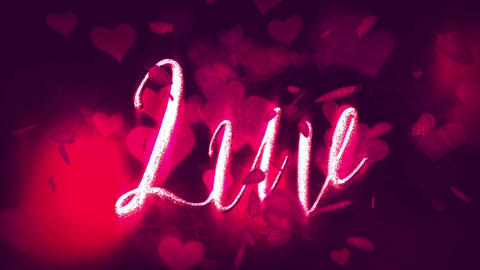 LUV Valentine's Day Titles After Effects Template