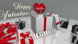Valentine's Day Gift Sale Promo CG動画素材
