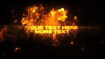 FIRE TEXT Motion Graphics Template