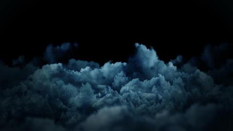 Fantasy landscape on cloudy sky, White smoke animation,... Stock Video Footage