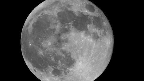 Full moon night - Sticking out of the screen Footage