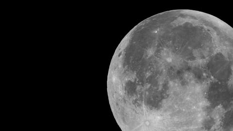 Full moon night - Sticking out of the screen Bottom right ビデオ