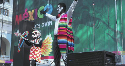 Mexican Carnival Celebration of the dead Footage