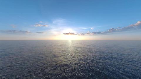 Sunrise&Sunset Sea CG動画素材