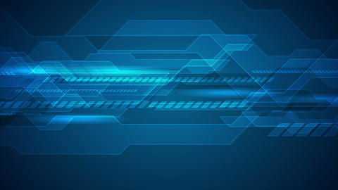 Dark blue technology futuristic video animation Animation