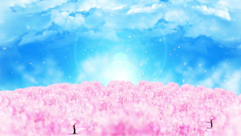Spring forest landscape illustration, Abstract nature…, Stock Animation