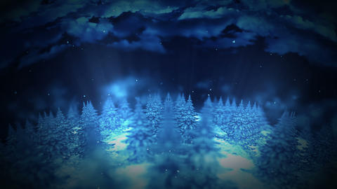 Forest landscape illustration, Abstract nature background, Loop animation CG動画素材