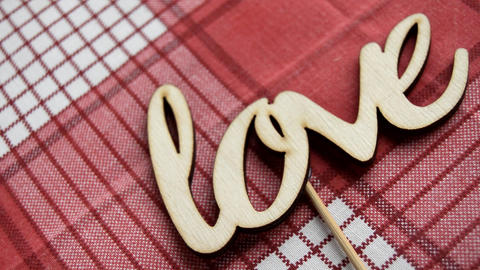 Love the word. Love the wooden letters on the red... Stock Video Footage