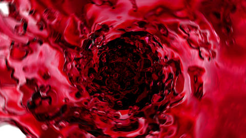 Beautiful Red Wine in Vortex Rotation. 3d animation with Alpha Channel. HD 1080 Animation