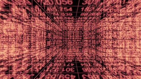 Traveling through a maze of digital data - Data Storm 0587 HD, 4K Animation