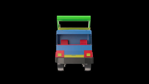 3d Model Plactic Car Toy Truck Animation