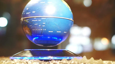 Abstract globe turning around in middle air, World and technology Footage