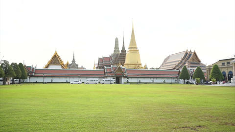 Bangkok Thailand - March 2016: Wat Phra Kaew, Grand Palace, Bangkok Landmark of Footage