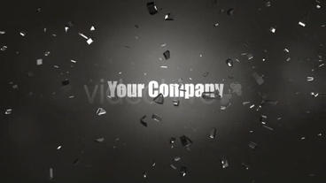 Shatter Logo 3D stock footage