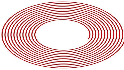 Hypnotic spiral – swirl on white background in 3d Animation