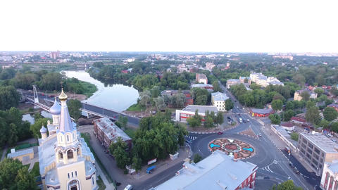 the city of Yaroslavl in the evening Footage