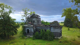 Old Abandoned Wooden Church In A Countryside ビデオ