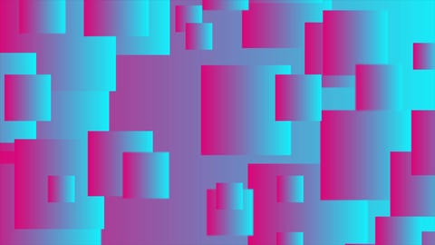 Pink and blue abstract squares tech motion background Animation