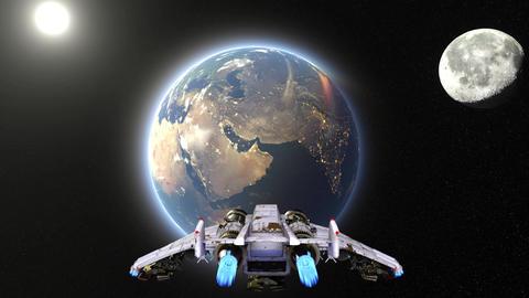Space ship GIF