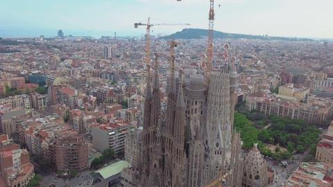 Barcelona. Sagrada Familia Church Footage