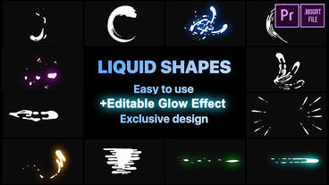 Dynamic Liquid Shapes Motion Graphics Template