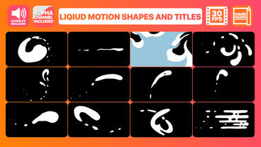 Liquid Shapes And Titles Motion Graphics Template