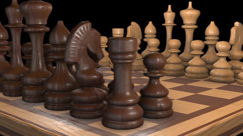 Spinning chessboard with alpha channel Animation