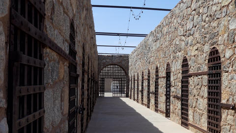 Cells At Yuma Territorial Prison State Historic Park In Arizona US Footage