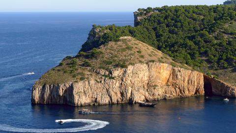 "Seascape of the ""COSTA BRAVA"" of Catalonia, Spain Footage"