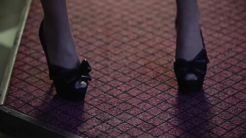Red carpet female feet Archivo