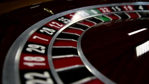 Close-up of roulette at the Casino Footage