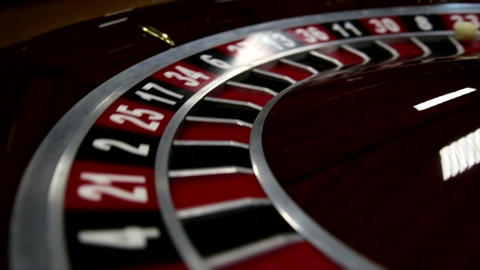 Close-up of roulette at the Casino Stock Video Footage